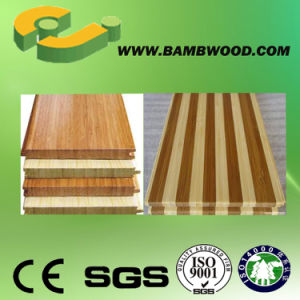 Popular! Solid Carbonized Vertical Bamboo Flooring