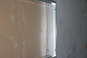 Fangda Wood Grain PVC Filmed Israeli Security Metal Steel Residentail Iron Door pictures & photos