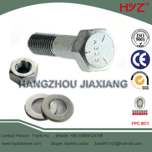 8.8 Grade Cold Galvanized A325 Bolt with Nut and Washer pictures & photos