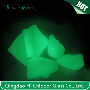 Green Colored Landscaping Glow Glass Chips pictures & photos