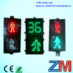 300 mm LED Animated Figures Pedestrian Traffic Light with Two Digits Countdown Meter pictures & photos