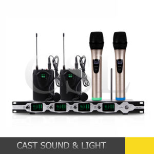 UHF Professional Conference/Outdoor Show/Karaoke Wireless Microphone pictures & photos