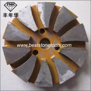 Hook & Loop Back Diamond Segment Metal Pad for Concrete