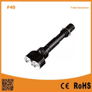 10W Xm-L2 T6 Bulb Two Head Multi-Function Aluminum Flashlight pictures & photos