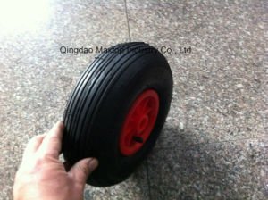 300-4 Rubber Wheelbarrow Tyre Wheel with Line Pattern pictures & photos