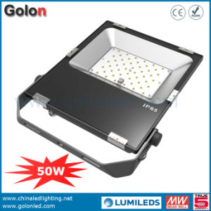 Competitive 50 Watt 12 Volt Slim LED Floodlight Philips SMD 3030 Die Casting Flood Light pictures & photos