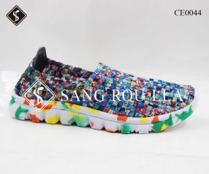 Colorful Fashion Women Sneaker Walking Weave Shoes pictures & photos