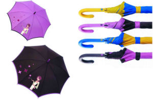 City Girl Print 3 Fold Manual Compact Umbrella (YS-3F21083002R) pictures & photos