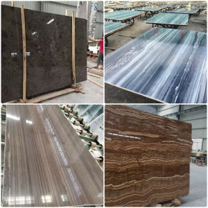 Brown/Beige/Blue/Black Marble Slab/Tiles for Decoration Material pictures & photos