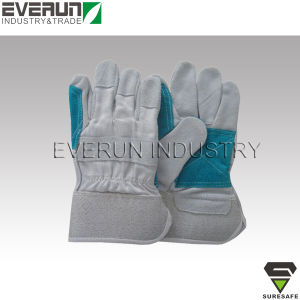 Industrial Safety Gloves Cow Split Leather Gloves Working Gloves pictures & photos