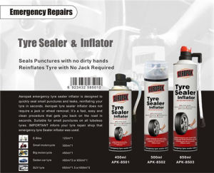 Aeropak Quick Spair Tire Inflator 450ml pictures & photos