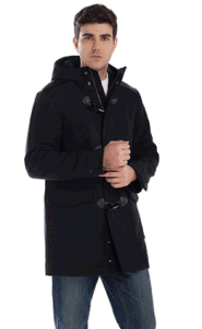 Latest Winter Horn-Button Padded Hoody Men′s Casual Long Coat pictures & photos