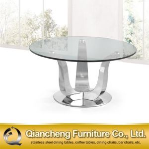 Eurpean Deign Clear Tempered Glass Coffee Table pictures & photos