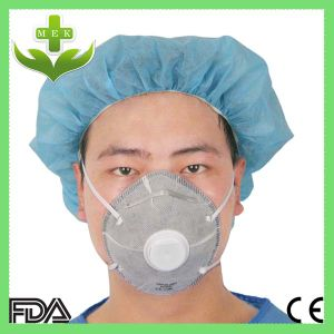 Disposable N95 Active Carbon Dust Mask with Valve pictures & photos