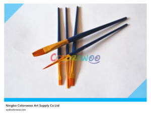 5PCS Wooden Handle Nylon Hair Artist Brush in PVC Bag for Painting and Drawing (Blue color) pictures & photos