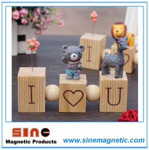 Creative Love Wooden Logs New Cartoon Animal Magnetic Gift Home Decoration pictures & photos