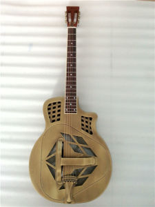 BV/SGS Certificate Supplier---China Aiersi Brand Stock Metal Body Resonator Guitar pictures & photos