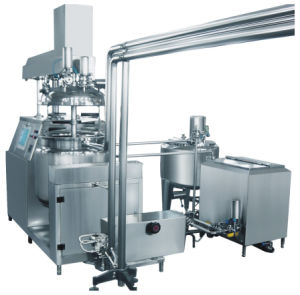 Vacuum Emulsifying Mixer with Water Phase and Oil Phase pictures & photos