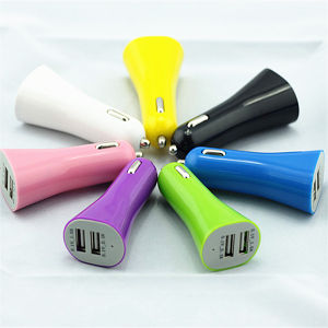 Hot Selling 2.1A Dual USB Car Charger Colorful12V Universal Car Charger for Samsung Blackberry pictures & photos