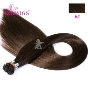 Premium Hand Tie Remy Hair Extension Indian Human Hair pictures & photos