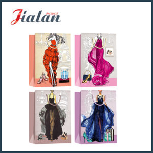 Fashion Lady′s Evening Dress Hand Shopping Package Gift Paper Bag pictures & photos