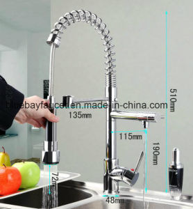 Hot Sale Brass Sinlge Lever Spring Kitchen Faucet pictures & photos
