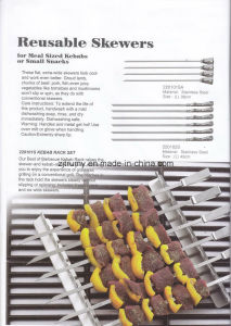 BBQ Grill Toast Reusable Skewer pictures & photos