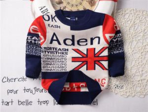 T1233 Fashion Kids Wear Autumn 100% Cotton Double-Layer Soft and Thick Baby & Kids Boy Letters O-Neck Long Sleeve Sweater Pullover Knitted pictures & photos