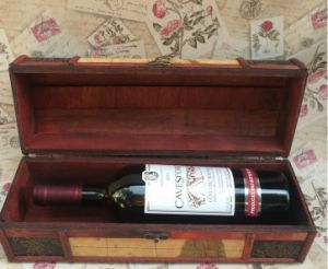 Vintage Single Wooden Wine Box Packing Box Wine Gift Box pictures & photos