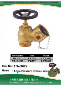 """Pressure Reduce Fire Hydrant Angle Valve: 2.5"""" Bsp/3""""Bsp pictures & photos"""