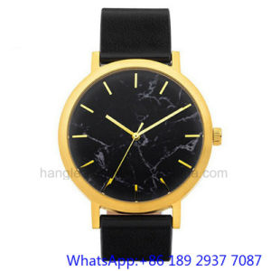 Top-Quality Stainless Steel Watches Whit Marble Dial, Genuine Leather Band Ja-15064 pictures & photos