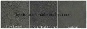 Honed/Sandblasted Chinese Basalt, Hainan Dark, Dark Basalt for Floor/Wall/Paver pictures & photos