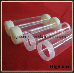 Both Ends Screw Transparent Silica Quartz Tube with Cover pictures & photos