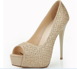 New Collection High Heel Women Diamond Shoes (HS17-058) pictures & photos