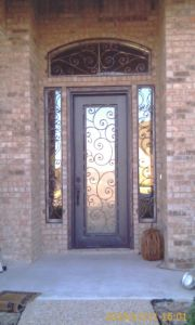 Round Top Exterior Position Used Single Doors with Sidelight and Transom (UID-S064) pictures & photos