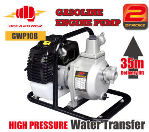 Delivery Lift 35m 1inch Portable High Pressure Water Transfer Gasoline Power Pump