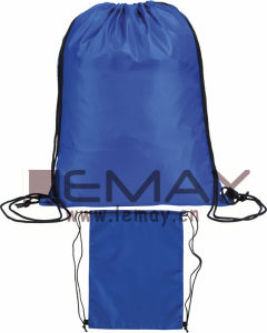Polyester Drawstring Bag Double-Shoulder Bagpack, Cheap Draw String Bag, Promo Gym Bag pictures & photos