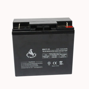 12V 17ah Rechargeable Sealed Lead Acid Battery with Ce
