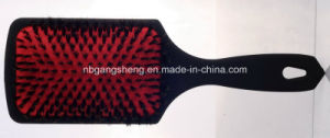 Best Selling 100% Boar Bristle Cushion Paddle Hair Brush for Hair Salon pictures & photos