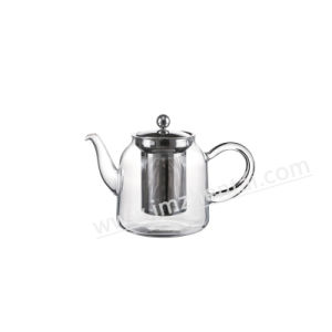 Blown Transparent Kongfu Scented Glass Teapot with Single Wall Glass Cups pictures & photos