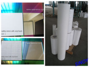 Safety-Plus 3mm 4mm 5mm 6mm Vinyl Backed Safety Mirror Glass for Cabinet, Wardrobe, Sliding Door Applications. pictures & photos
