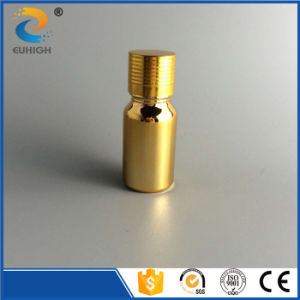 Shiny 10ml Glass Dropper Bottle with Gold Electroplating Surface Handing