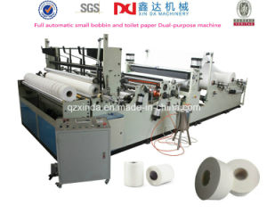 Full Automatic Small Bobbin Toilet Paper Maxi Rolls Making Machine pictures & photos