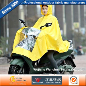 Strength Oxford PVC Fabric Waterproof for Electric Bicycle Raincoat pictures & photos