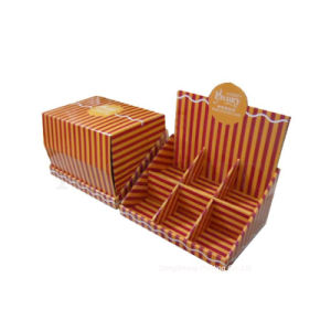 Striped Printing Corrugated Cardboard Counter Advertising/Promotion Boxes
