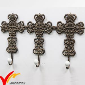 3 Brown Vintage Metal Coat Iron Wall Hooks pictures & photos