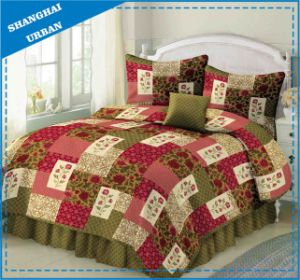 Rose Lawn Printed Polyester Patchwork Quilt pictures & photos