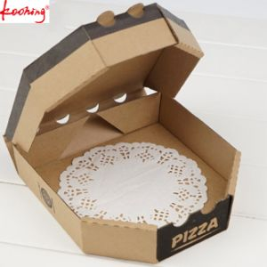 Audit Factory Custom Design Printing Brown Kraft Paper Pizze Box pictures & photos