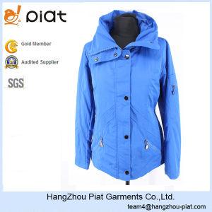 2016 Hot Sale Fashion Windproof Lady Blue Windbreaker Jacket