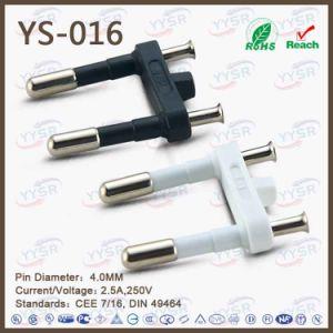 European Style Power Cord 2 Pin 2.5A Europlug pictures & photos